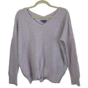 Vince Mauve Lavender Cashmere Wool Blend Sweater